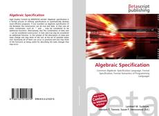 Bookcover of Algebraic Specification