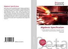 Capa do livro de Algebraic Specification