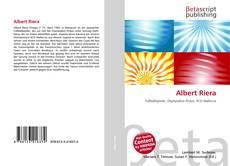 Portada del libro de Albert Riera