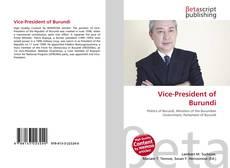 Bookcover of Vice-President of Burundi