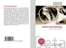 Bookcover of Albert Schindehütte