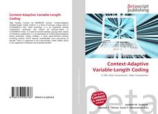 Bookcover of Context-Adaptive Variable-Length Coding
