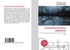 Bookcover of Prevention of Terror Ordinance