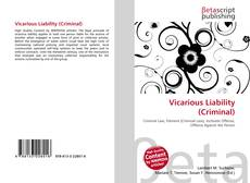 Bookcover of Vicarious Liability (Criminal)