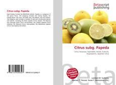 Borítókép a  Citrus subg. Papeda - hoz