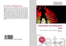 Bookcover of Prevention of Infiltration Law