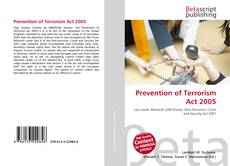 Buchcover von Prevention of Terrorism Act 2005