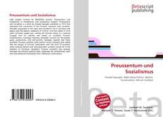 Bookcover of Preussentum und Sozialismus