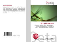 Bookcover of Maria Altmann