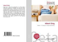 Bookcover of Albert Sing