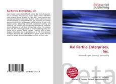 Bookcover of Ral Partha Enterprises, Inc.