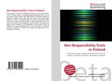 Обложка War-Responsibility Trials in Finland