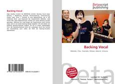 Bookcover of Backing Vocal