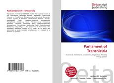Capa do livro de Parliament of Transnistria