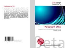 Bookcover of Parliament of Fiji