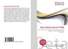Buchcover von War Claims Act of 1948