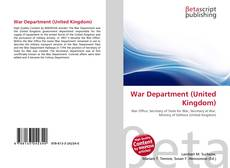 Portada del libro de War Department (United Kingdom)