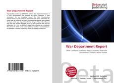 Portada del libro de War Department Report