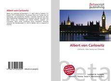Bookcover of Albert von Carlowitz