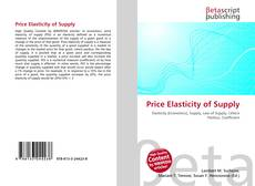 Bookcover of Price Elasticity of Supply