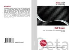 Buchcover von Ralf Koser