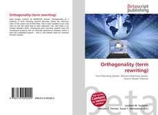 Orthogonality (term rewriting) kitap kapağı