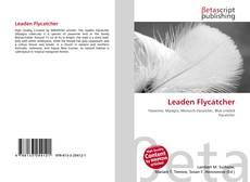 Leaden Flycatcher kitap kapağı