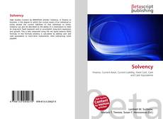 Bookcover of Solvency