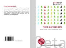 Picea morrisonicola kitap kapağı