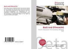 Back end (Filmrecht) kitap kapağı