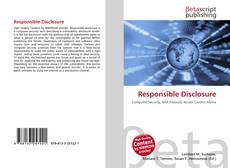 Capa do livro de Responsible Disclosure