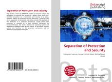 Couverture de Separation of Protection and Security