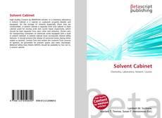 Portada del libro de Solvent Cabinet
