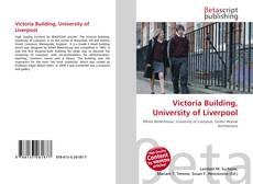 Portada del libro de Victoria Building, University of Liverpool