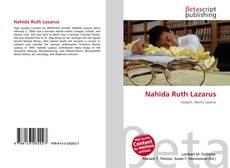 Portada del libro de Nahida Ruth Lazarus