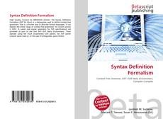 Bookcover of Syntax Definition Formalism