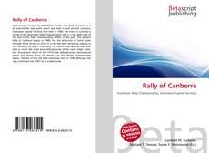 Rally of Canberra kitap kapağı
