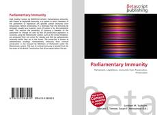 Bookcover of Parliamentary Immunity