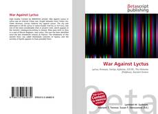 Bookcover of War Against Lyctus
