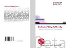 Bookcover of Parliamentary Authority