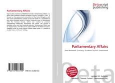 Portada del libro de Parliamentary Affairs