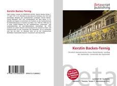 Bookcover of Kerstin Backes-Ternig