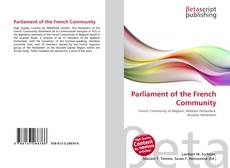 Bookcover of Parliament of the French Community