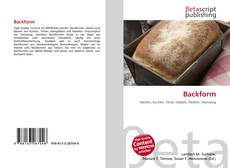 Bookcover of Backform