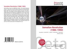 Bookcover of Somalian Revolution (1986–1992)