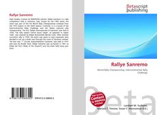 Bookcover of Rallye Sanremo