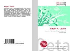 Portada del libro de Ralph A. Lewin