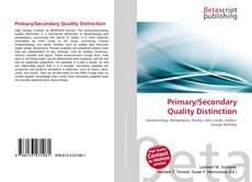 Primary/Secondary Quality Distinction的封面