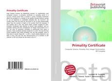 Borítókép a  Primality Certificate - hoz