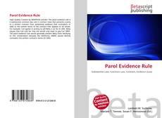 Parol Evidence Rule的封面